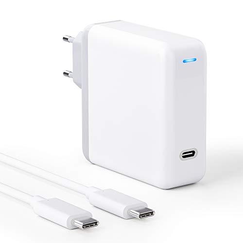 ZeaLife MacBook Pro Ladegerät USB C, 61W USB-C Netzteil Kompatibel mit MacBook Pro, MacBook, iPad Pro, Ersatzladegerät für Neues MacBook Air Ladegerät, 18W/30W/61W Typ C Ladegerät mit 2M Ladekabel