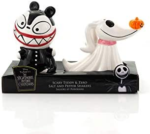 Nightmare Before Christmas Scary Teddy Zero Ceramic Salt Pepper Shakers Fun Collectible Kitchen product image