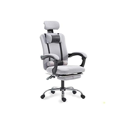 GAONAN Mesh Office Chair with Arms Desk Chair Gaming Chair Swivel Heavy Duty Chair Ergonomic Design Cushion and Reclining Back Support(Gray) Multifunctional swivel chair