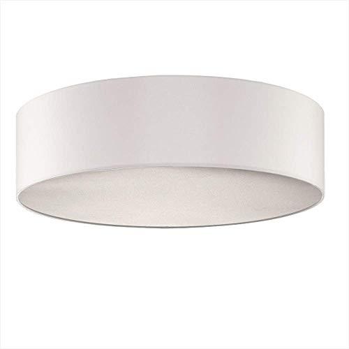 Abat-jour rond-Chintz plastique blanc-Ø50cm-avec lampe de poche LED