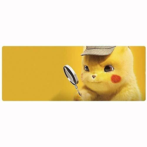 CFTGB Gaming Muis Mat Grote Muis Pad Anime Pokémon Pikachu Patroon Toetsenbord Verlengd Mousepad voor Computer PC muismat