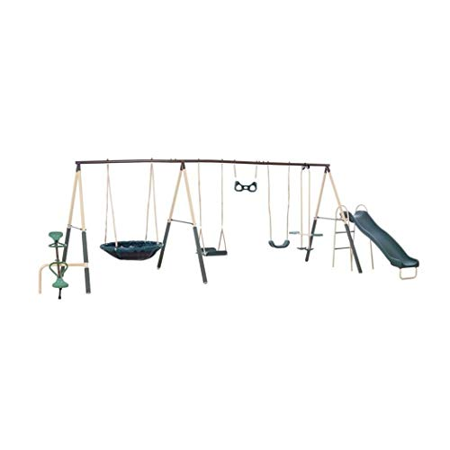 XDP Recreation Deerfield 10 Child Capacity Kids Swing Set Outdoor Playground