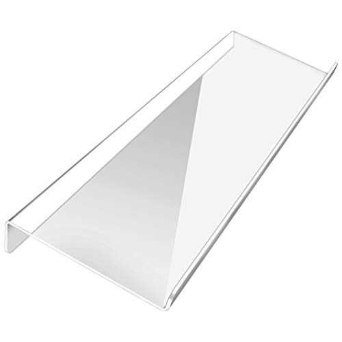 Computer Keyboard Stand, Marrywindix Clear Acrylic Tilted Computer Keyboard Tray Holder for Easy Ergonomic Typing, Upgraded Version at Office Desk, Home, School