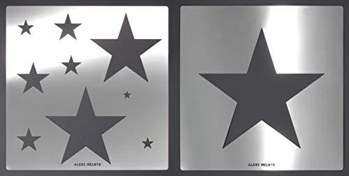 Aleks Melnyk #59 Schablone groß/Metall Stencil Vorlagen for walls/Wandschablone Sterne Kinderzimmer/2 Stück/Kinderzimmer-Dekorarion/Kinderzimmer-Vorlage