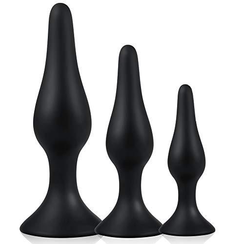 Utimi Plugs de silicona negro 3piezas
