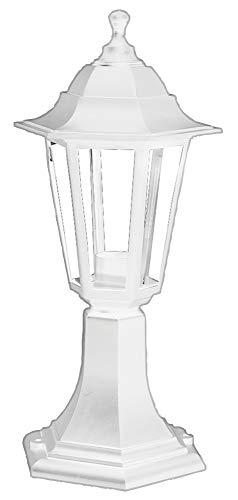 Pro Elec PEL01362 lampa zewnętrzna montowana na słupku na zewnątrz, IP44, biała