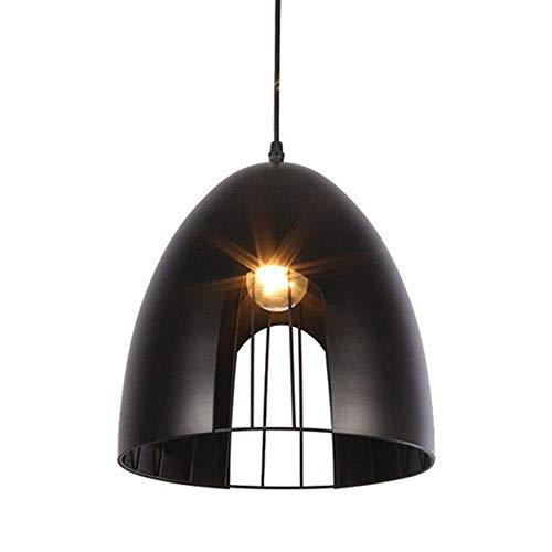 LLT Retro Vintage Colgante Lámparas Lámparas Negro Creativo Cono Hueco Araña E27 Industrial Labrado Hierro Techo Lámpara Colgante Lámpara Tonos de Cocina Iluminación Barra Oficina Altura Ajustable