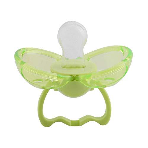 Chupete para bebés, chupete antipolvo de silicona de seguridad para bebés recién nacidos que cierra automáticamente el chupete para bebés(#4-green round head)