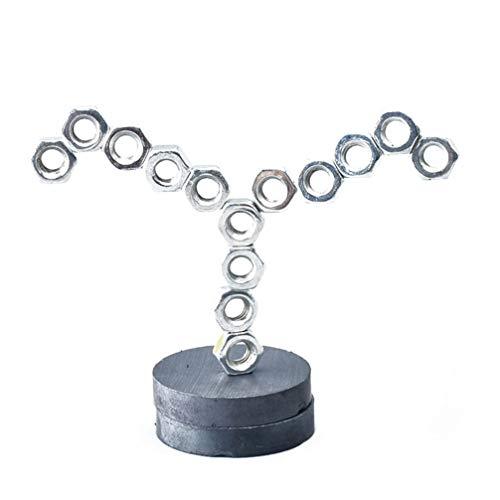 NUOBESTY 2 Sätze Magnetische Desktop-Skulptur Stapel Nüsse Spielzeug Wissenschaft Experiment Spielzeug DIY Magnet Spielzeug für Kinder (Schwarz)