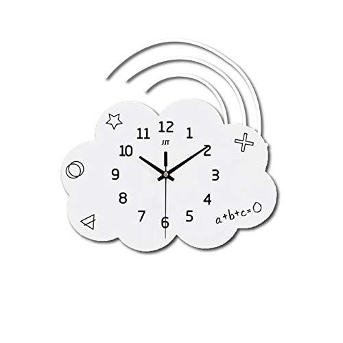 Reloj de pared decorativo, para niños, nubes, bricolaje, supersilencioso