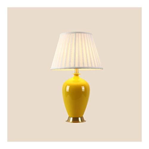 Luz de mesa Luz de noche Mesilla de noche Mesilla de noche de la lámpara lámpara de escritorio dormitorio de la luz con la pantalla de la tela de cerámica lámpara de mesa for el dormitorio de la sala