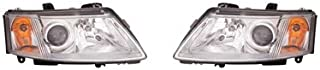 Fits Saab 93 Sedan 2003-2007/Coupe 2004-2007 Headlight Assembly Pair Driver and Passenger Side
