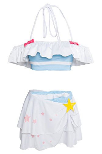UU-Style Fate/Extella Link Astolfo Swimsuit Bikini Set FGO Apocrypha FA Rider Astolfo Cospaly Costume (Small) White