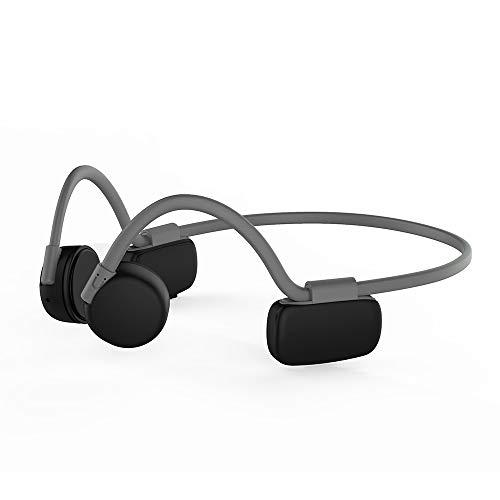XIANGHUI Auriculares Deportivos Inalambricos con Bluetooth 5.0, Tecnología de Conduccion Osea, Diseño Open-Ear, Resistente al Polvo y al Agua IP56 para Correr, Ciclismo