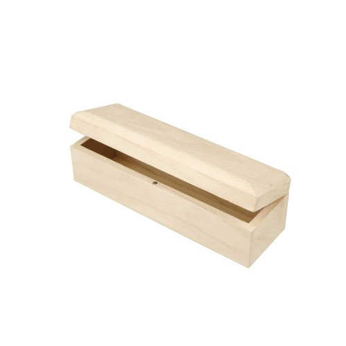 Holzschatulle, 20x6x6 cm, Kaiserbaum, 1 Stck.