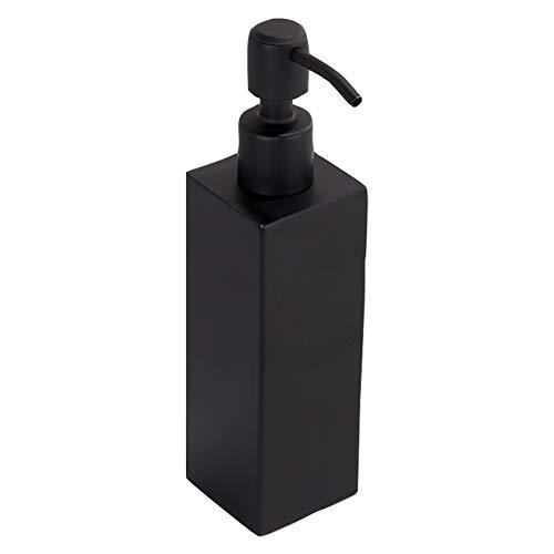 Liseng Dispensador de jabón líquido negro hecho a mano, accesorios de baño, accesorios de cocina, práctico y moderno
