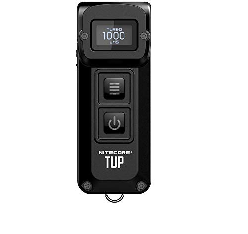 Nitecore TUP CREE XP-L HD搭載 最大1000ルーメン 新型 充電式懐中電灯スマートキーサイズで明るい充電式ライト モード&パワー 2ボタンで操作しやすい!