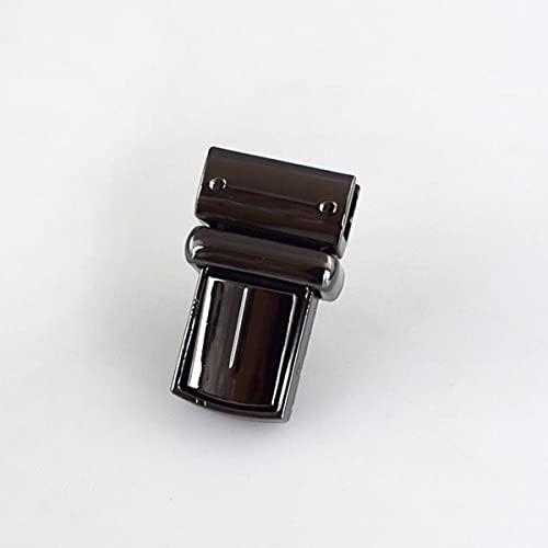 2/5/10 piezas 22x38 mm bolso de mano con cerradura de mortaja cerraduras hebilla cierre giratorio para bolsas de repuesto de bricolaje cierre de broche de monedero-10 piezas, negro pistola