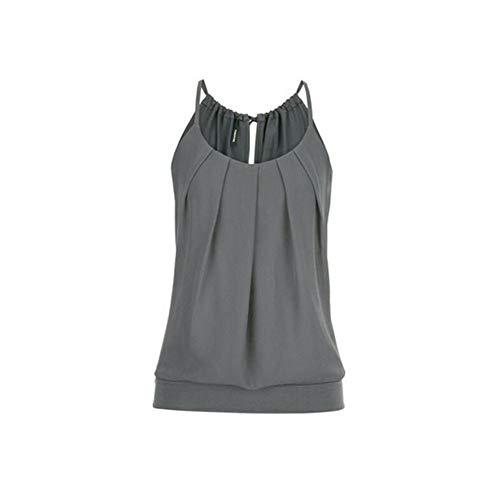 OSYARD Top Damen Sommer Sexy Ärmellos Shirt Crop Tops Damen Mode Rundhals Bluse Oberteile Elegant Frauen Camisole Tank