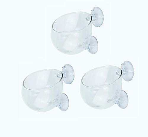 SRrabbit 水草ポット グラスポット 水草 植木鉢 水槽 アクアリウム 取付簡単 ガラス製 (3個セット)