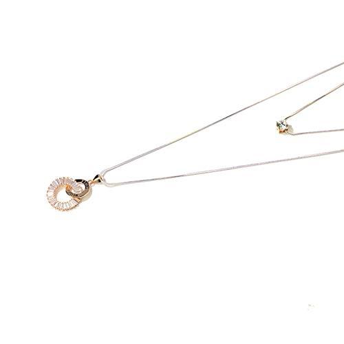 HSJ WDX- Collar de Personalidad de la Cadena de suéter Collar Largo Colgante Collar Largo Colgante Colgante Cien Accesorios a Juego Colgante decoración