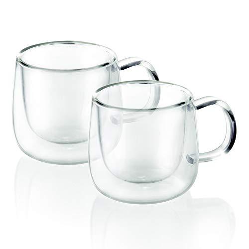 Dupla de Xícaras Para Café Parede Dupla Borossilicato - TCJ19157 - Mimo Style