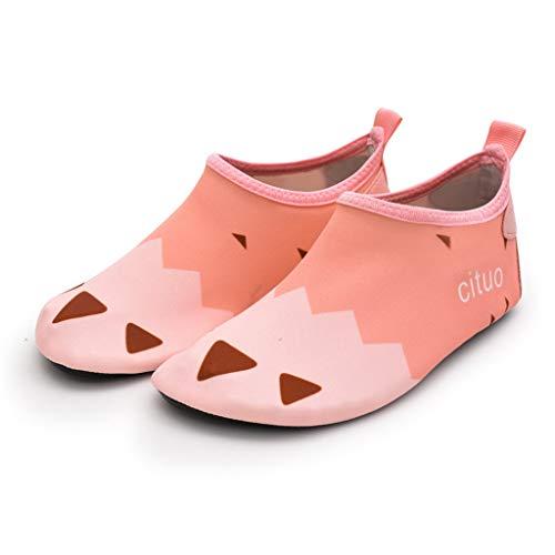 YUTRD ZCJUX Wasserschuhe barfuß Quick-trockene Kinder Outdoor Aqua Socken Schuh Hausschuhe Baby Jungen Mädchen Tauchen Wating Beach Badeschuhe Kinder (Color : A, Size : 36-37)