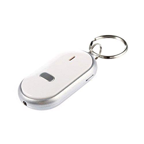 PIXNOR® Linterna LED portátil con control remoto de sonido, buscador de llaves...