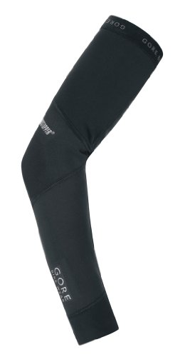 Gore Men's Universal Windstopper Soft Shell  Arm Warmers, Black, X-Large