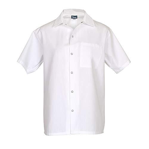 Fame Short Sleeve Cook Shirt (X-Large, White)
