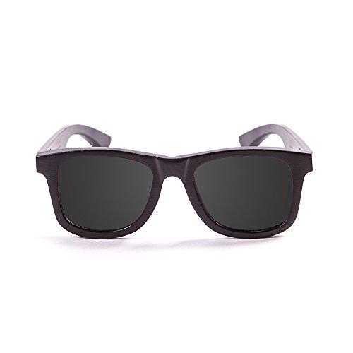 Ocean Sunglasses Wood Victoria - Gafas de Sol polarizadas de Bambú - Montura : Negro - Lentes : Ahumadas (53000.0)