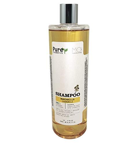 Champú natural Pure Cosmetics EXTRACTO MANZANILLA con protección solar sin parabenos 500ml. M.O.I. HairCare