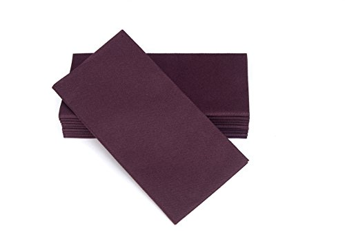 Simulinen Colored Napkins - Decorative Cloth Like & Disposable, Dinner Napkins - Plum - Soft, Absorbent & Durable - 16