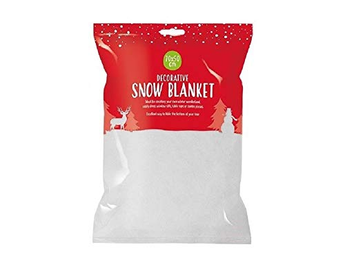 Christmas Snow Blanket Xmas Decoration Artificial Fake Snow Roll 70x50cm HOVUK (1x Snow Blanket)