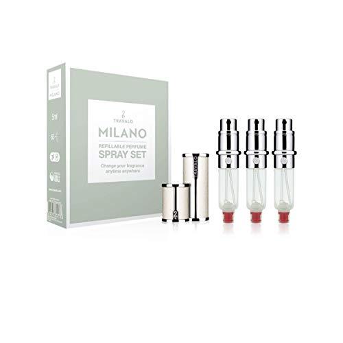 TRAVALO (トラヴァ―ロ) ミラノ セット アトマイザー 香水 旅行 携帯 詰め替え ボトル 簡単 香水スプレー (White)