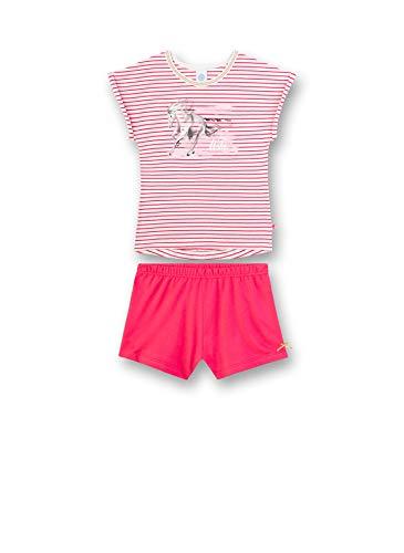 Sanetta Mädchen Pyjama Kurz Zweiteiliger Schlafanzug, Rosa (rosa 3845), 92 (Herstellergröße:092)