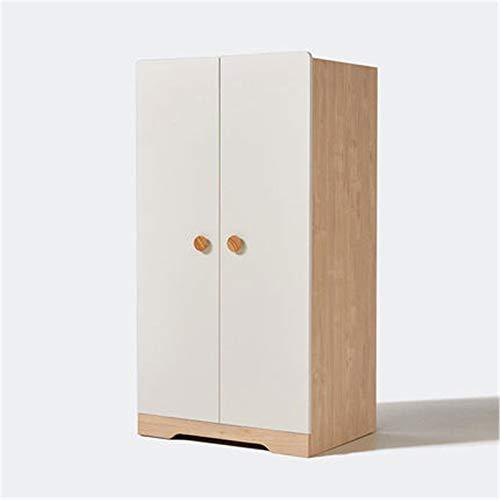 Armarios Moderno Minimalista Dormitorio Armario de dos puertas Armario Pequeño Armario para niños Habitación para niños Casillero Gabinete de almacenamiento ( Color : Natural , Size : 139x55x73cm )