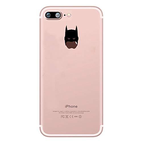 Shot Case Coque Silicone iPhone 7 Plus (+) Batman Fun Apple Bruce Wayne Tete Pomme Transparente Protection Gel Souple