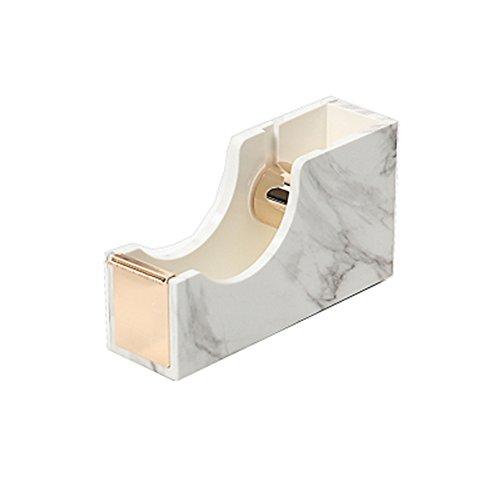 Estuche de plástico ABS con impresión de mármol blanco, soporte para lápices, vasos y pinceles de maquillaje para organizadores de escritorio y accesorios