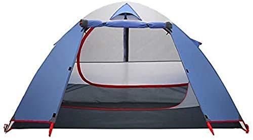 Tienda de campaña Ligera, Tienda de Doble Capa Tent Aluminio Impermeable para Acampar para Pesca de mochilero (Color: Azul, Tamaño: 230x150x125cm) (Color : Blue, Size : 230x150x125CM)