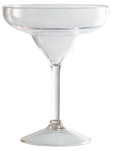 """Piazza 505502""""Margarita"""" Copa de cóctel de policarbonato, transparente, 274 ml de capacidad"""