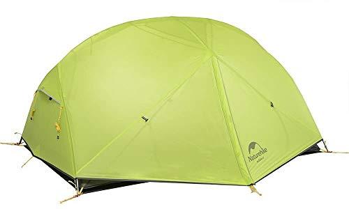 Naturehike Mongar Tienda de campaña de mochilero Ligero 2 Personas para el Excursionismo, el Senderismo y el Camping (Verde Claro)