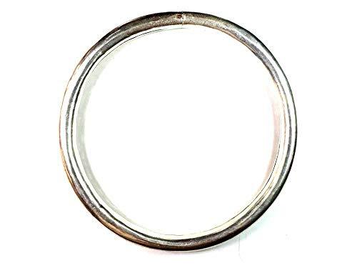 artigianale Round Necklace 12 mm Thick Approx. Rigid Inner Diameter 12.5 cm, External 15 cm Snake Bath Silver Indian Brass Bath Gift Amulet Horns