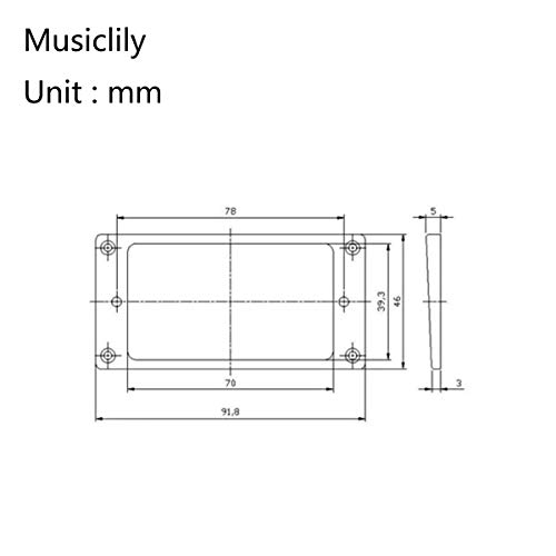 Musiclily Pro Plástico Tapa Plana Set de Marcos para Pastillas Humbucker Guitarra Electrica, Negro