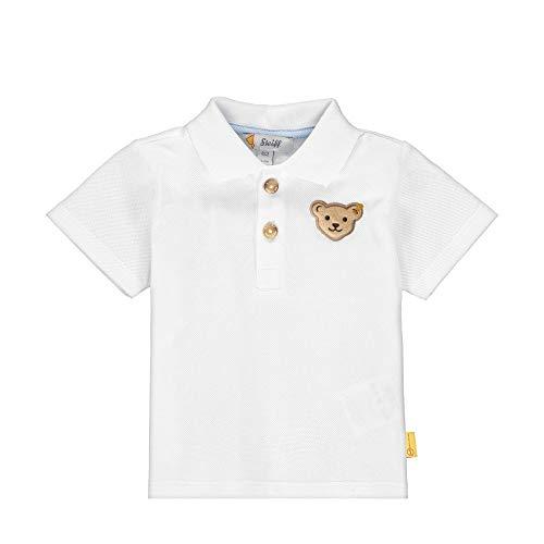 Steiff Baby-Jungen Poloshirt, Weiß (Bright White 1000), 74 (Herstellergröße: 074)