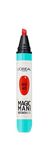 L'Oréal Paris Vernis à Ongles Magic Mani N° 401 RED - Lot de 3