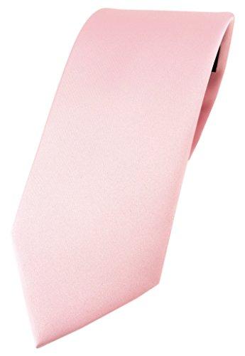 TigerTie Designer Krawatte in rosa einfarbig Uni - Tie Schlips