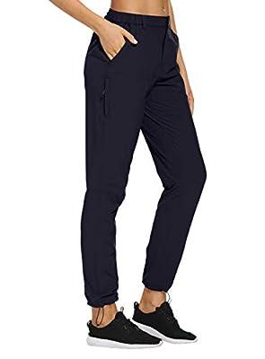 VEOBIKE Women's Cargo Hiking Pants Adjustable Waist Quick Dry Lightweight Outdoor Water Resistant UPF50+ Pants Zipper