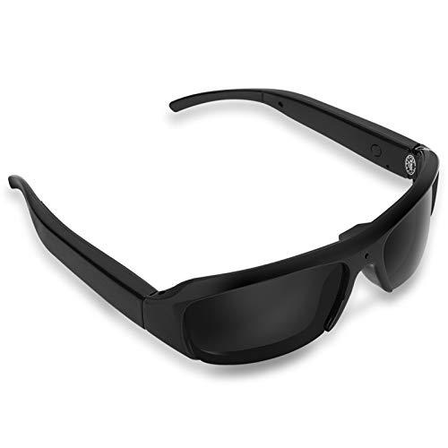 Mugast Gafas de Cámara Digital Gafas de Sol Full HD 1080P Cámara Apoyo para Tarjetas TF de 32G para Actividades al Aire Libre, Ciclismo, Esquí, etc.