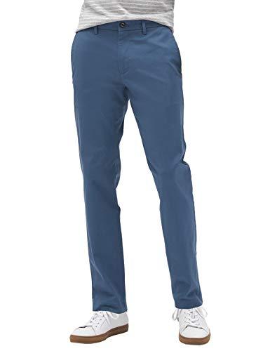 Banana Republic Mens Athletic Slim Leg Mason Stretch Chino Pants Lush Blue (33W 30L)